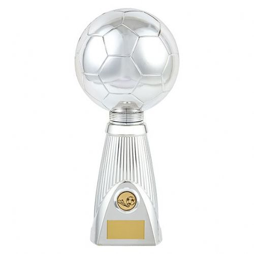 Planet Football Deluxe Rapid 2 Trophy Silver & Black 315mm